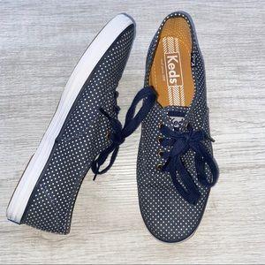 Keds Blue White Champion Polka Dot Design Shoe